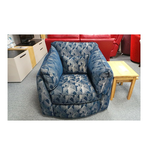 Halley Swivel Chair (Blue)