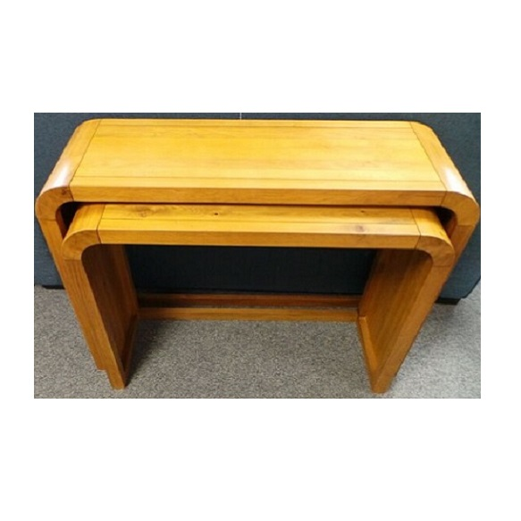 Curved Oak Console Nest