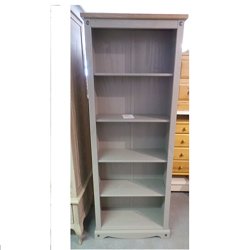 Corona large grey bookcase